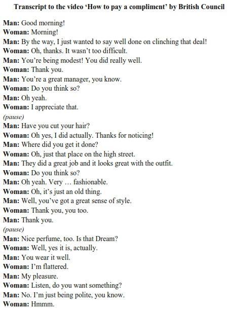 Englische komplimente